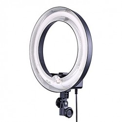 "Ring Light 12"" 50w rør m. stof diffuser (5500kelvin diff)-20"